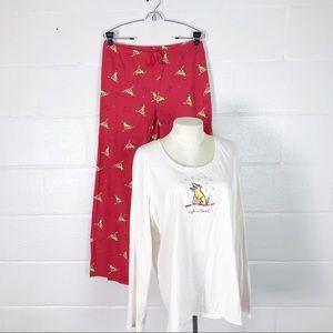 Life is Good pajamas Dog print women's sz XL